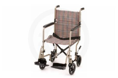 "19"" Tan & Print - Light Weight Transport Chair"