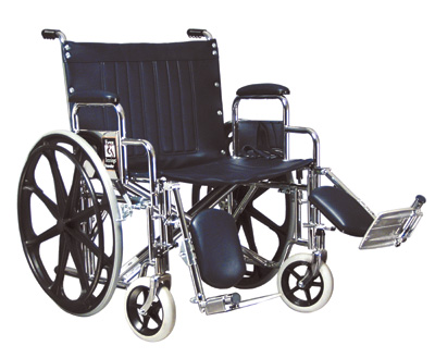 "Steel Wheelchair -18"" STEEL WHEELCHAIR WITH FULL ARM AND ELEVATING FOOTREST"