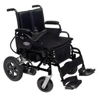 Power Wheelchair with Swing Away Foot Rests