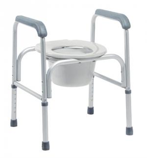 Three-In-One Aluminum Commodes - Bariatric